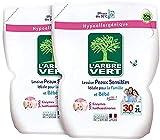 L'arbre vert Lessive Liquide Recharge pour Peau Sensible/Famille Hypoallergénique 30 Lavages 2 L -...