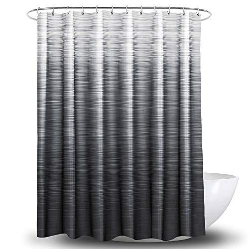 ATQY Gradient Stripe douchegordijn, waterdicht dik afwasbaar polyester badgordijn - Roestvrij voor douchecabine badkuipen 71 x 71 inch