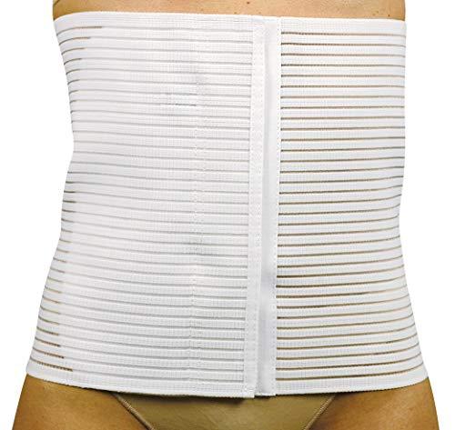 MANIFATTURA BERNINA Sana 55120 - Faja compresión Abdominal Transpirable cinturón de Apoyo postoperatorio Alto 20 cm