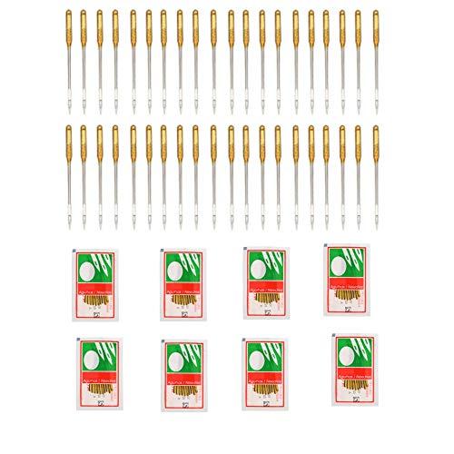 CHENGYIDA 80 agujas para máquina de coser doméstica, para cantante Janome Juki y máquina de coser antigua, varios tamaños #9, 14, 16, 18, 20 unidades