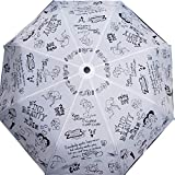 Cheeky Chunk 3 Fold Designer Girls Rain Doodle Monsoon Fashion Umbrella