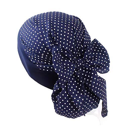 Pluto & Fox Turbante Gorra Pañuelo Para Cabeza De Tela De Mujer Para Cáncer Quimioterapia Chemo Oncológico Noche Pèrdida de Pelo Cabello (Diseño 4, 1)