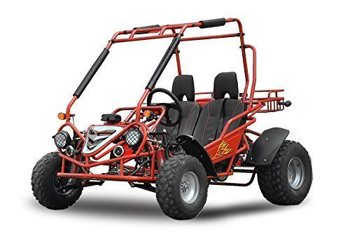 Nitro Motors Maxi Buggy 200cc oliegekoelde E-start automatische CVT met achteruitversnelling offroad quad ATV fiets Midi rood