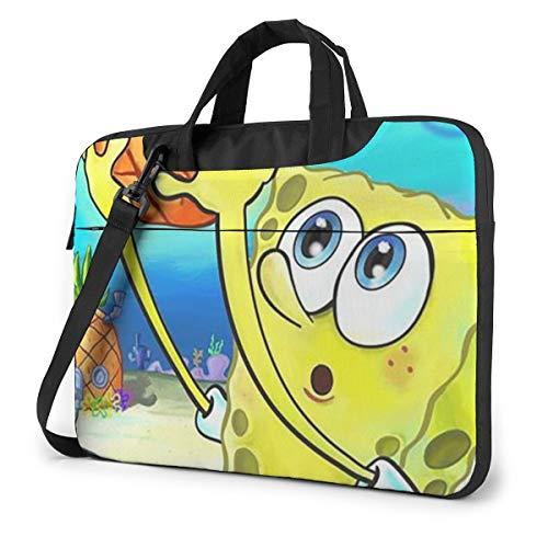13 Inch Laptop Bag Funny Spongebob Squarepants Laptop Briefcase Shoulder Messenger Bag Case Sleeve