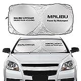 Sombrilla de parabrisas de automóviles, adecuado para Chevrolet Cruze Laceti Sonic Spark Captiva Aveo SS Trax Camaro Accesorios Anti-ultravioleta Reflector Parasoles de parabrisas ( Cor : For Malibu )
