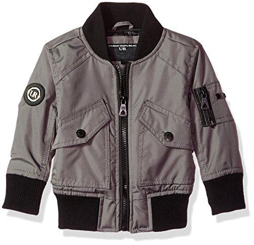 Urban Republic Baby Boys Ballistic Bomber Jacket, darkcharcoal, 18M