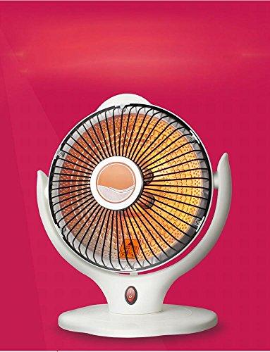 NQ Calentador Calentador de Sol Pequeño Banco de Oficina Calentador de Calentamiento Eléctrico Hogar Estufa de Ahorro de Energía Estudiantil Estufa Asada,Blanco