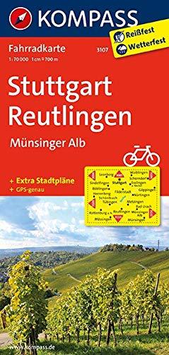 KOMPASS Fahrradkarte Stuttgart, Reutlingen, Münsinger Alb: Fahrradkarte. GPS-genau. 1:70000 (KOMPASS-Fahrradkarten Deutschland, Band 3107)