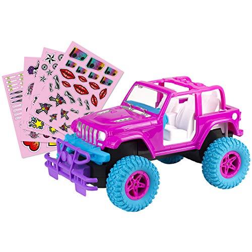 EXOST - 20262 - DIY Crossroad - ferngesteuertes Auto - Spielzeug Auto für Kinder - mädchenhaftes Design - pink - ab 5 Jahren