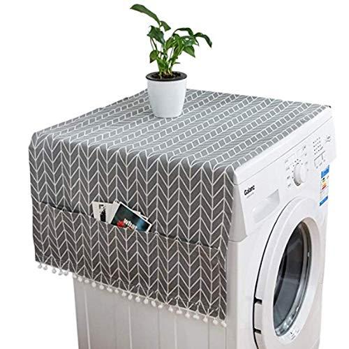 HONG-YANG Cubierta del refrigerador del hogar Paño Exclusivo de la Puerta Cubierta de Polvo Refrigerador de Doble receptividad Toalla Tambor Lavadora Cubierta de la Toalla Artículos cotidianos