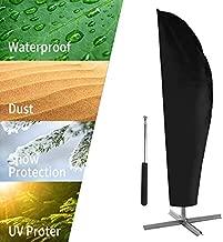 UPODA Patio Umbrella Cover, Waterproof Outdoor Umbrellas Cover Anti-UV Proof of Rain Wind Dust Umbrella Cover for 9ft to 11ft Outdoor Umbrellas with Zipper