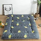 Huan De Estilo japonés Sofá Cama Plegable Enrollable Colchón en el Piso Sofá Cama de niño Adulto Sueño Viaje compartida, algodón, piña (Size : 90cmX200CM)