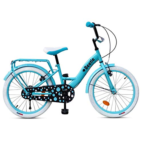 Beetle Panache 20T Kids Cycle With 12 Inches Steel Frame for 6 to 10 Year olds, Turquoise Blue