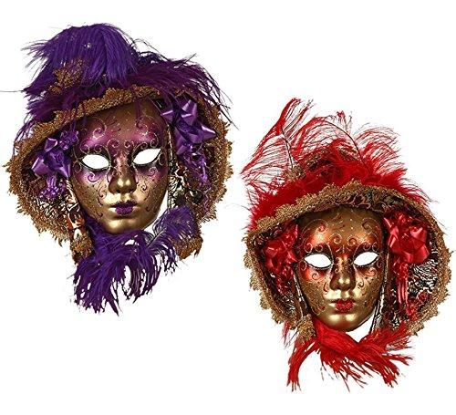 Atosa Máscara Veneciana con Sombrero en 2 Colores