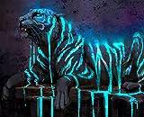ArtAnimal - Träumender Tiger Puzzle 1000 Teile schwer, Besondere Puzzle für Erwachsene, Puzzle Erwachsene anspruchsvoll, Jigsaw Puzzle Farbverlauf, XXL Puzzle Tiere, Das unmögliche Puzzle Fantasy Tier