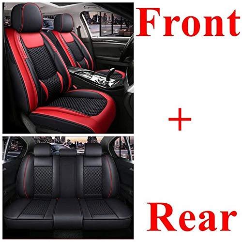 Fundas Asientos Coche Universales para Audi A4 Q3 A6 C5 A4 B8 A3 8P Q2 Q5 A1 A3 A5 A6 A7 A8 A4L A6L A8L Q7 Q5L Sq5 RS Q3 A4 B6 A4 B7 A6 C6 Accesorios Coche Interior-Rojo estándar