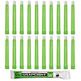 Cyalume Bastone Luminoso SnapLight Glow Sticks 15 cm - Light Sticks molto luminoso con durata di 12 ore - Verde - Sacchetto da 20