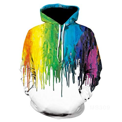 Mr.1991INC&Miss.GO Autumn/Winter Casual Couple Wear 3D Printed Hooded Pullover Sweater Jacket