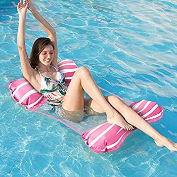 Homga 4-in-1 Inflatable Rafts Swimming Pool Floats