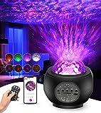 Tesoky proyector estrellas, LED de Luz Nocturna con control remoto y altavoz de música Bluetooth, Lampara Estrellas...