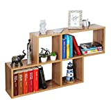 Ricoo wm051-ew estantería pared 100x53x20cm estante colgante mueble almacenaje flotante muebles hogar almacenamiento libros madera roble marrón