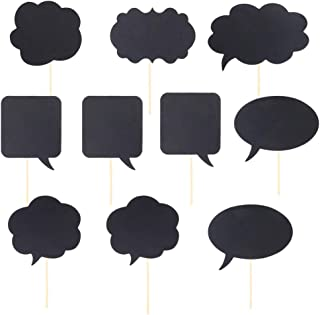 BESTOYARD Message Signs Selfie Photo Props Paper Writing Chalkboards DIY Party Props for Wedding Birthday Bridal Shower Engagement Party 20 Pcs