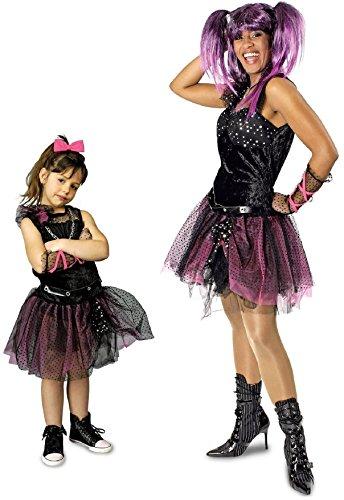 narrenkiste K31250422-44-46 Damen Punker Kostüm-Kleid Rockerin Gr.44-46