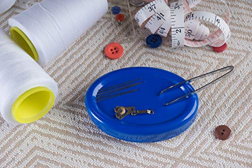 Juvale Magnetic Pin Cushion, Sewing Accessories and Notions (Blue, 2-Pack)