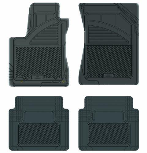 Koolatron Pants Saver Custom Fit 4 Piece All Weather Car Mat for Select Toyota Tundra Models (Black)