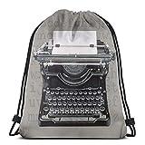 Bingyingne Vintage Underwood Máquina de escribir Bolsa con cordón Bolsa de deporte deportiva Bolsa de viaje Bolsa de regalo Mochila de fitness, mochila escolar, bolsa de viaje