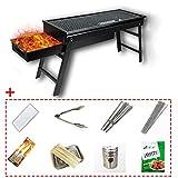 ALYR Portatile Barbecue a Carbone, Piegato Barbecue Grill Carbone Griglie Carbone Griglia ...