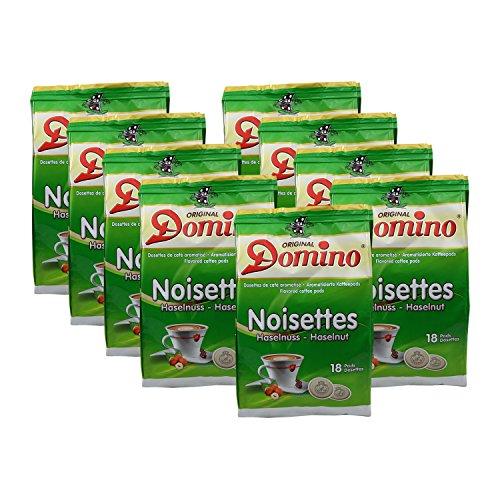 9x DOMINO Kaffeepads Haselnuss (á 18 Pads)