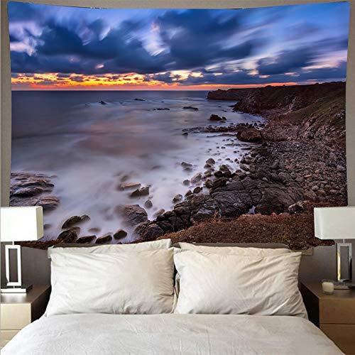 KHKJ Paisaje Marino Arrecife Tapiz Arte psicodélico Colgante de Pared Toalla de Playa Mandala Manta Fina Decorativa A2 95x73cm