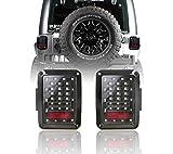 Hooke Road Wrangler JK Tail Light Assembly w/Brake Light & Turn Signal Compatible with Jeep JK Wrangler 2007-2018