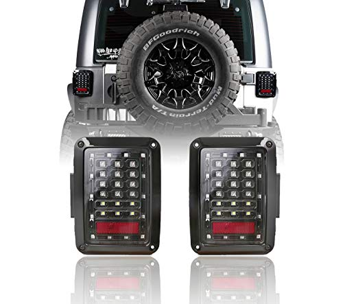 Jeep JK Tail Light Assembly Clear LED w/Brake Light & Turn Signal for Jeepr JK Wrangle 2007-2018
