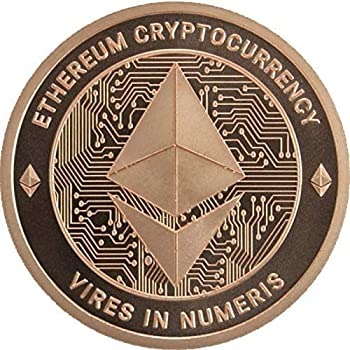 Ethereum Copper Coin - 1 oz 0.999% Pure Copper Round - Cryptocurrency Collectors Item - Please Be Sure Coin is Shipped & Sold by 11Force! Anything Priced Under $8.97 is a Fake Copper Coin!