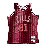 Mitchell & Ness NBA Chicago Bulls Rodman - Jersey de punto de cruz, diseño de Chicago