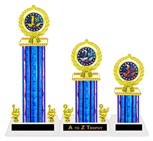 Trophies 1st 2nd 3rd Place Tournament Awards Academic Achievement Education Games Sports Trophy Free Engraving Color Choice