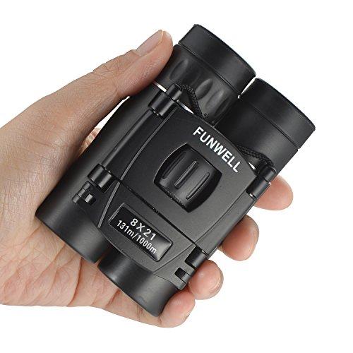 Mini Compact Lightweight 8x21 Small Binoculars for Concert Opera Sports Game Outdoors Hiking Travel Kids Bird Watching Christmas Gift