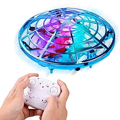 Mini Drone for Kids and Adults, LANIAKEA Easy Flying Toys Hand Operated Mini Drone with 360°Rotating, Hand Controlled Toy Gifts for Boys and Girls Indoor Outdoor Activities (Blue)