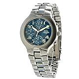 Chronotech Herren Chronograph Quarz Uhr mit Edelstahl Armband CT7059-03M