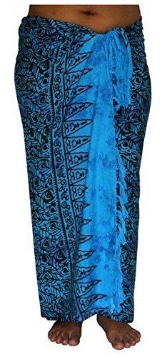 ca.100 Modelle im Shop Sarong Strandtuch Pareo Wickelrock Loop Stola blau Sar91