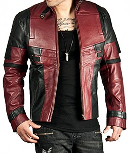 Deadpool Wade Wilson Real Leather Jacket (M) Maroon