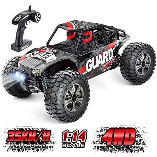 Remote Control Car for Boys 35KM/H High Speed RC Car for Kids, 4WD HISTORM All Terrian RC Trucks, Hobby Grade 1/14 IPX4 Waterproof Off Road Remote Controlled Cars for Adults, Cross-Country Buggy