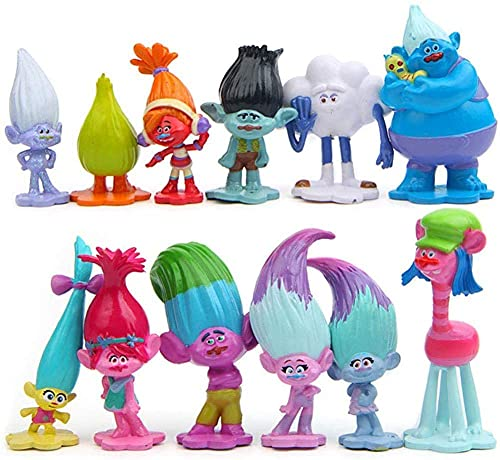 CHAOGG 3-7Cm Troll Figuras Película Figura Muñecas...