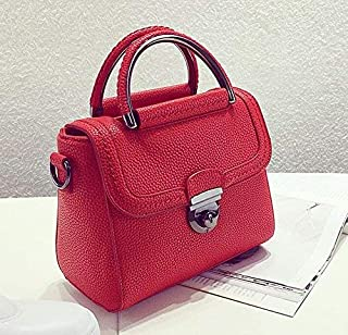 Shoulder Bag Women'S/Fashion Handbag/All-Match/Hand Ladies Bag Personality Fashion Messenger Small Fresh Small Package Handbag Clutch (Color : Gules)