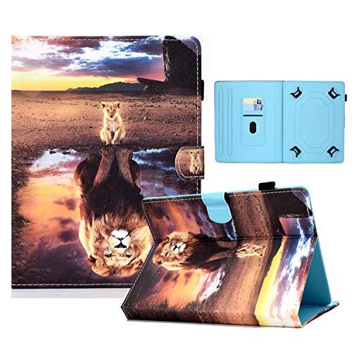 zl one Compatible con/reemplazo para Tablet PC 10 'Universal PU cuero Flip Cover Stand Wallet Case (Reflexión de ión)