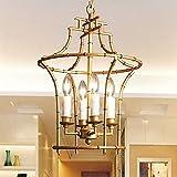 H.Y.BBYH Pendelleuchte Kronleuchter Wohnzimmer Lights Restaurant Bar Cafe Schlafzimmer Treppen Tischkerzenhalter Lampen-Decken 37x37x50cm Leuchter