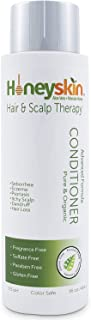 Hair Regrowth Conditioner Aloe Vera - Coconut Oil, Manuka Honey - Scalp Eczema, Psoriasis, Seborrheic Dermatitis Remedy - Itchy Dry, Hair Loss Treatment (8oz)