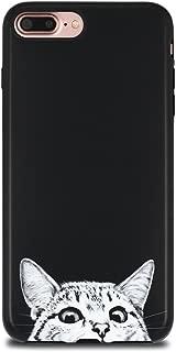 iPhone 7 Plus Case for Girls/iPhone 8 Plus Cute Case, GOLINK Cute IMD Printing Slim-Fit Anti-Scratch Shock Proof Anti-Finger Print Flexible TPU Gel Case for iPhone 7/8 Plus - Cat